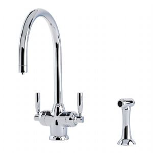 1535 Perrin & Rowe Mimas Sink Mixer Tap with Filtration, Rinse and C Spout